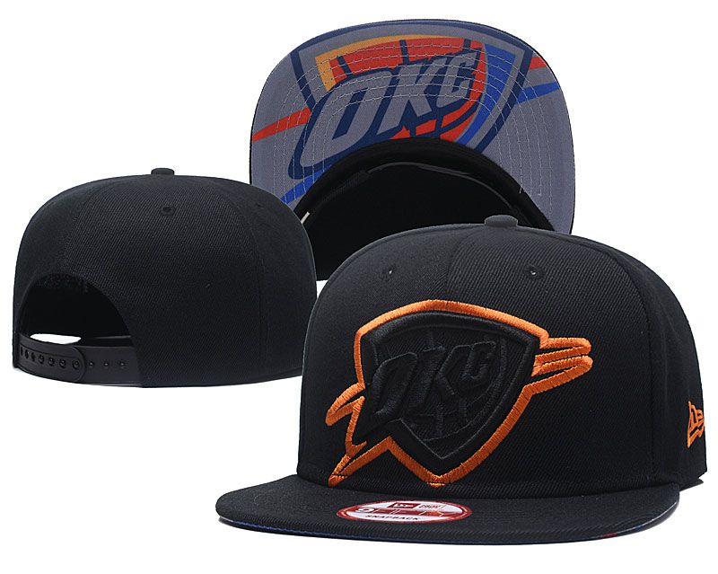 2018 NBA Oklahoma City Thunder Snapback hat GSMY8181