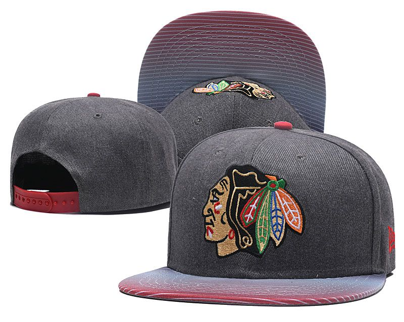 2018 NHL Chicago Blackhawks Snapback hat GSMY818