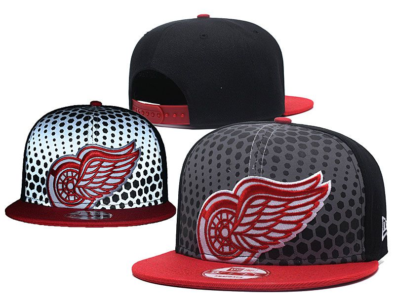 2018 NHL Detroit Red Wings Snapback hat GSMY818