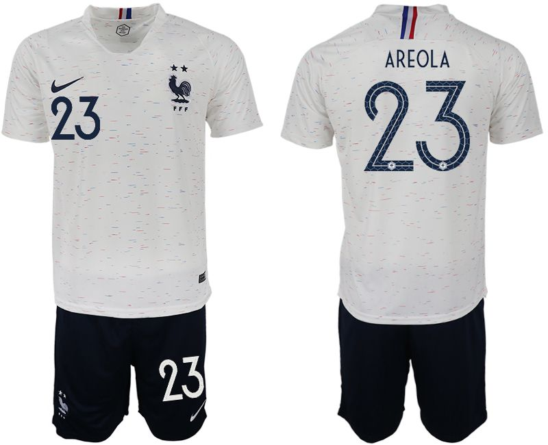 Men 2018 World Cup France away 23 white soccer jerseys