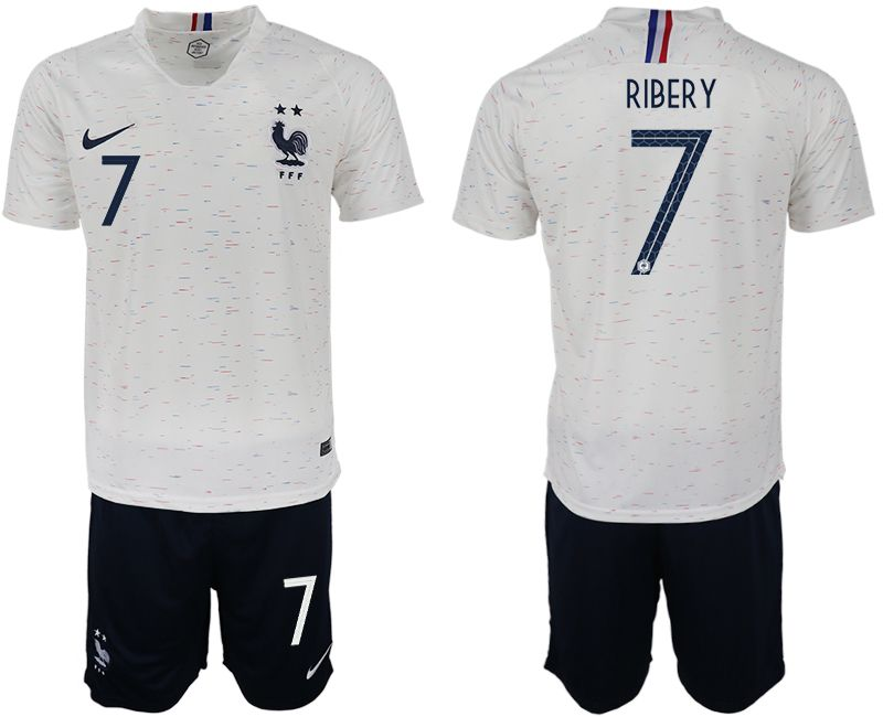 Men 2018 World Cup France away 7 white soccer jerseys1