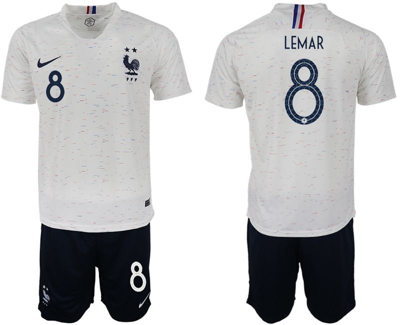 Men 2018 World Cup France away 8 white soccer jerseys
