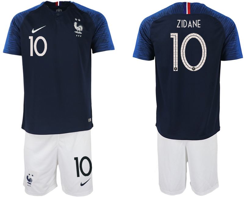 Men 2018 World Cup France home 10 blue soccer jersey