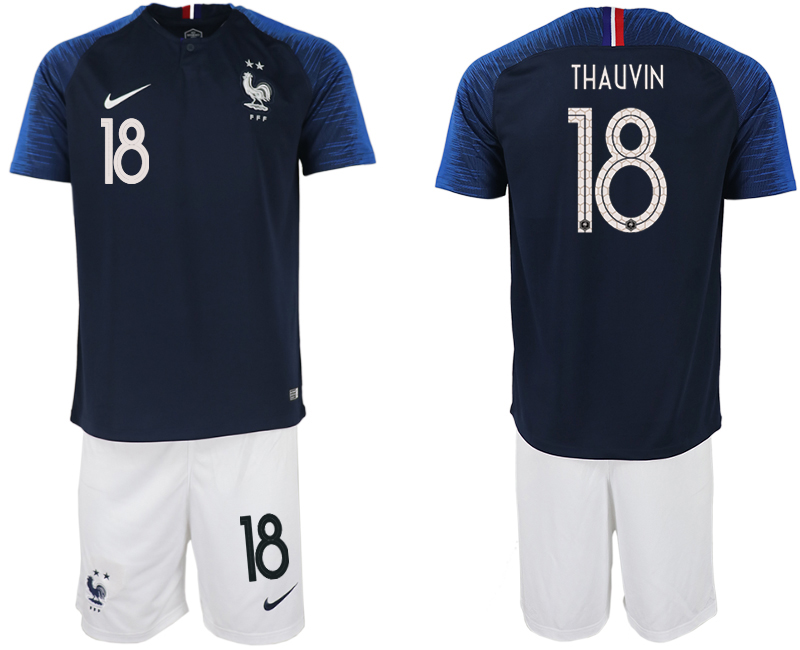 Men 2018 World Cup France home 18 blue soccer jersey
