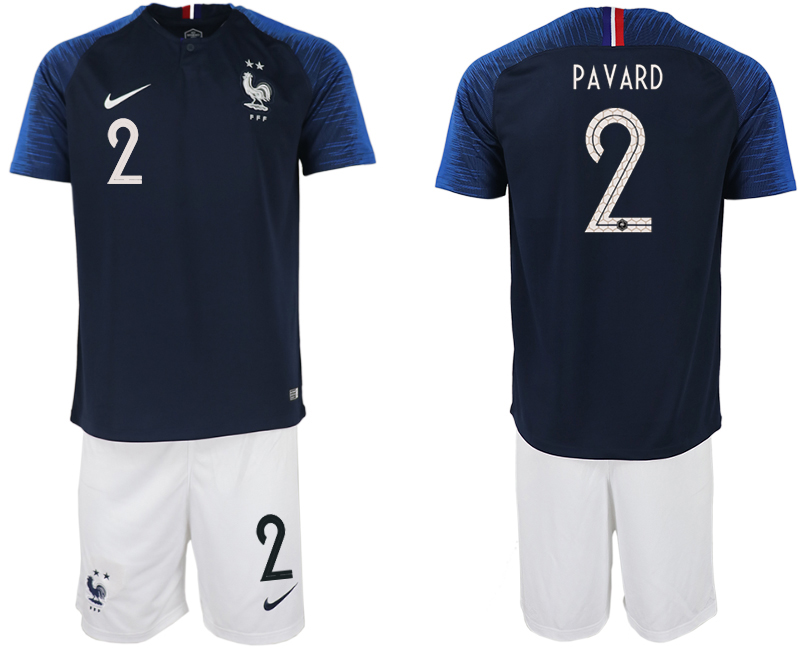 Men 2018 World Cup France home 2 blue soccer jersey
