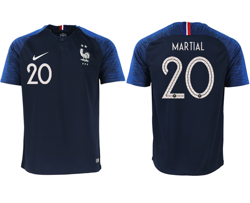 Men 2018 World Cup France home aaa version 20 blue soccer jerseys