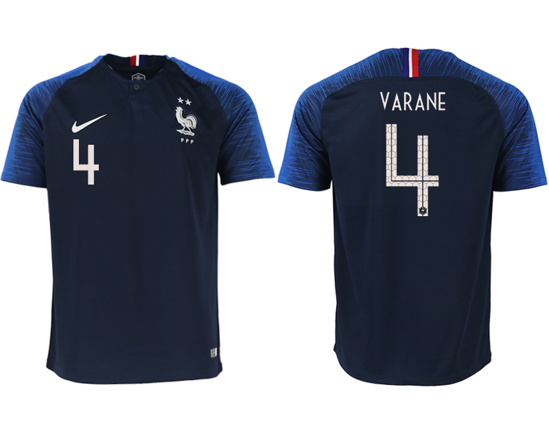 Men 2018 World Cup France home aaa version 4 blue soccer jerseys