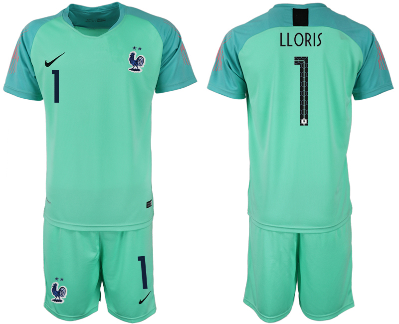 Men 2018 World Cup French green goalkeeper 1 soccer jersey