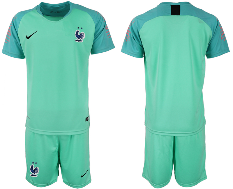 Men 2018 World Cup French green goalkeeper soccer jersey