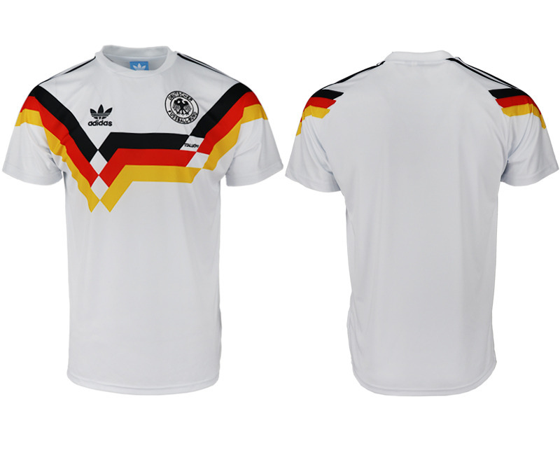 Men 2018 World Cup Germany home Retro aaa version white soccer jerseys
