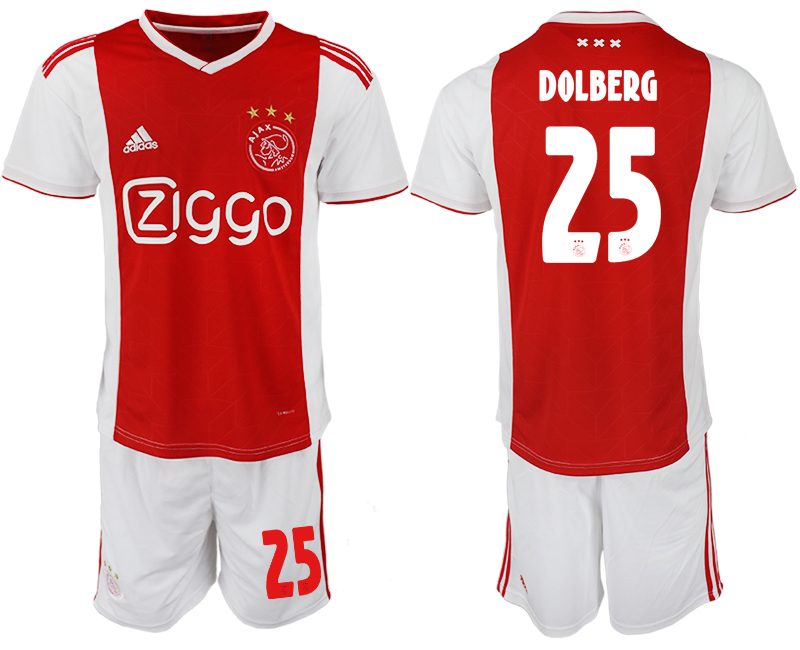Men 2018-2019 club AFC Ajax home 25 soccer jersey