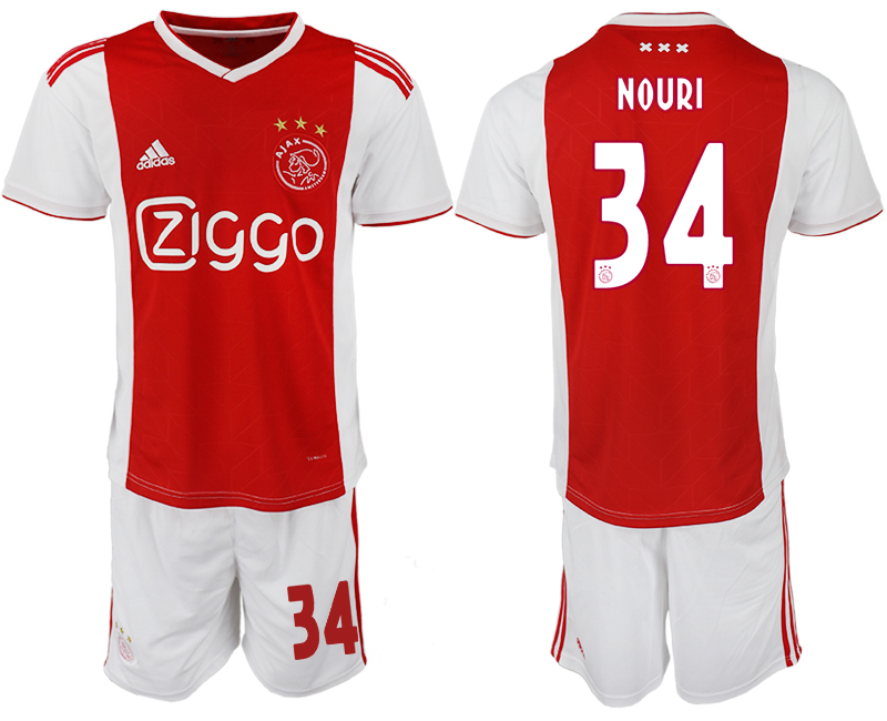 Men 2018-2019 club AFC Ajax home 34 soccer jersey
