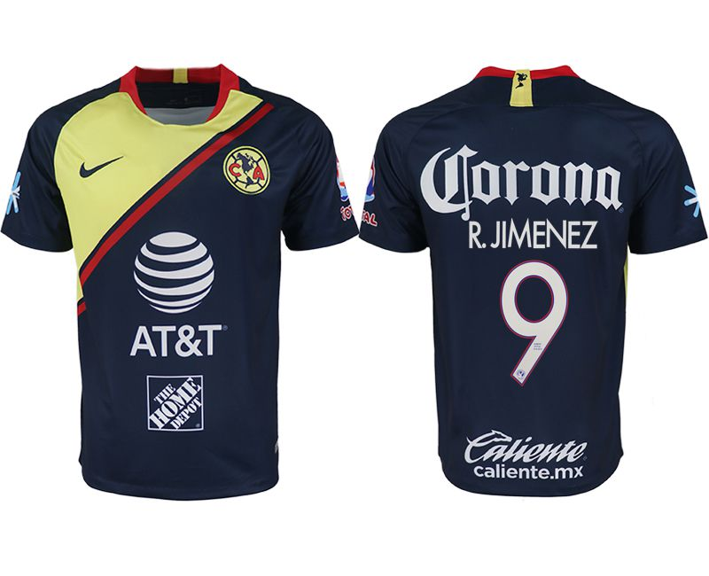 Men 2018-2019 club America away aaa version 9 blue soccer jersey