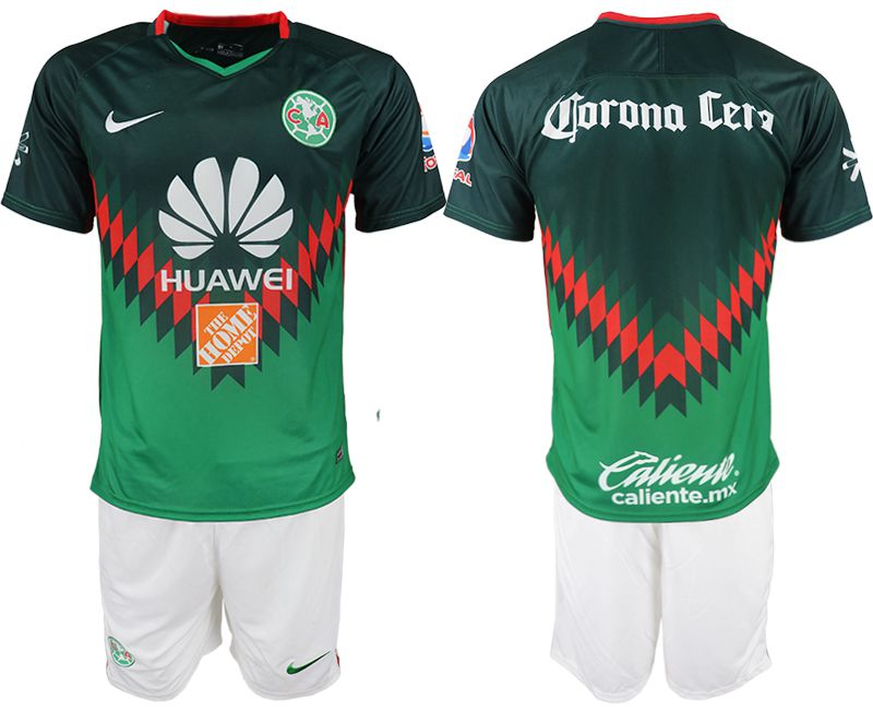 Men 2018-2019 club America away green soccer jersey