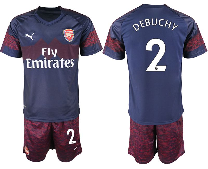 Men 2018-2019 club Arsenal away 2 blue soccer jersey