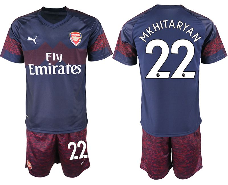 Men 2018-2019 club Arsenal away 22 blue soccer jersey
