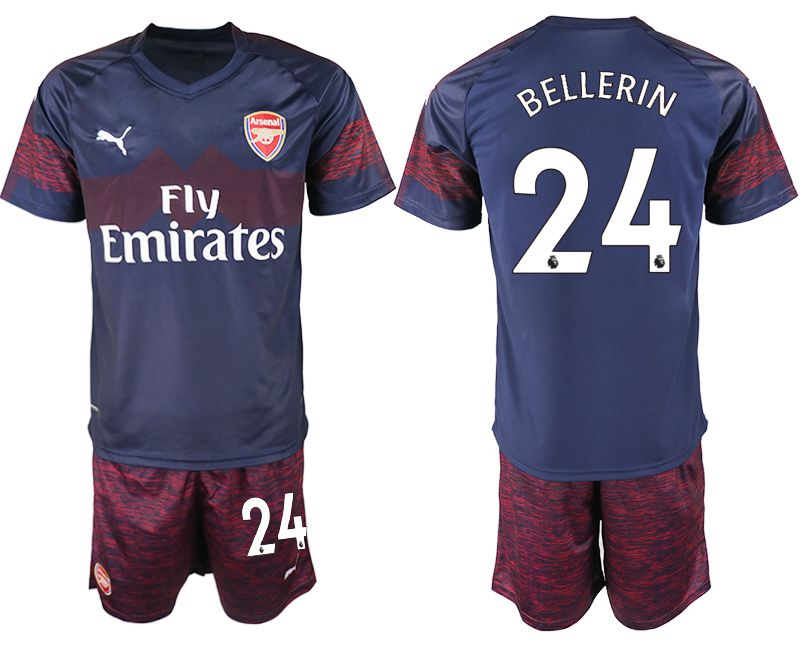 Men 2018-2019 club Arsenal away 24 blue soccer jersey