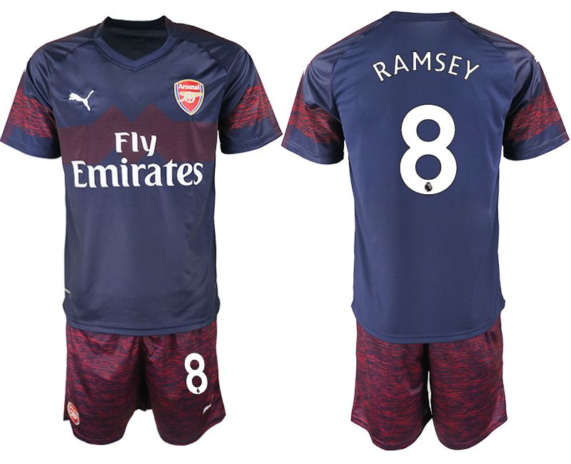 Men 2018-2019 club Arsenal away 8 blue soccer jersey