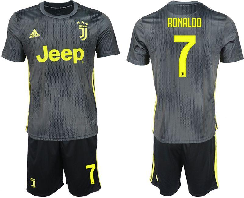 a8f0d8c5e Men 2018-2019 club Juventus FC hoaway 7 black soccer jersey