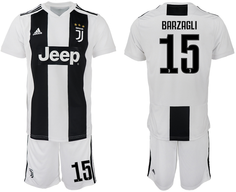 Men 2018-2019 club Juventus FC home 15 white soccer jersey