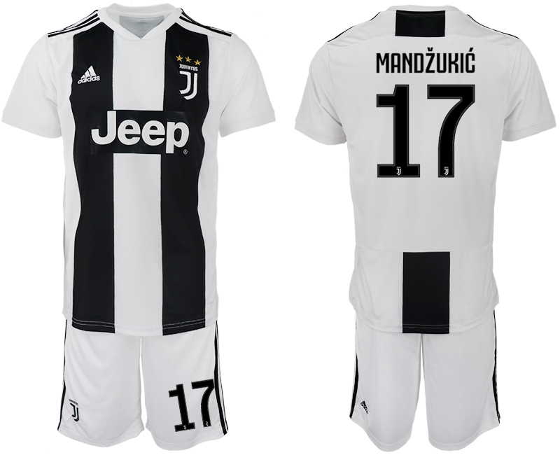 Men 2018-2019 club Juventus FC home 17 white soccer jersey