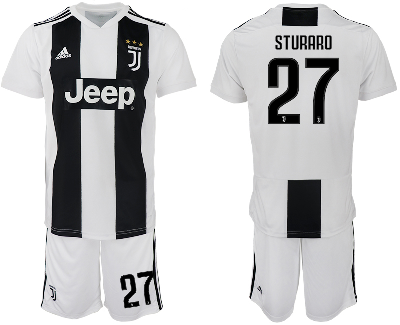 Men 2018-2019 club Juventus FC home 27 white soccer jersey