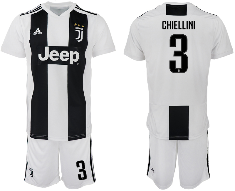 Men 2018-2019 club Juventus FC home 3 white soccer jersey