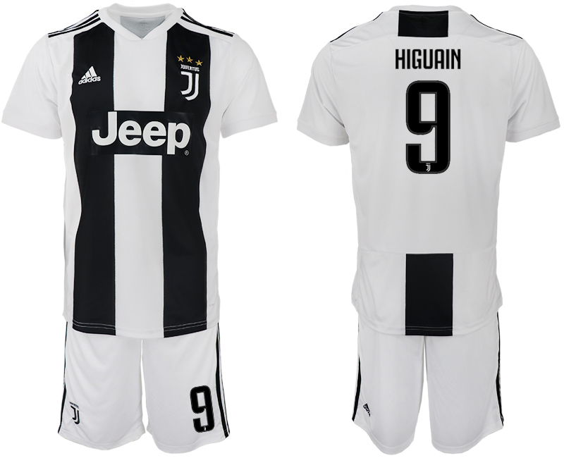 Men 2018-2019 club Juventus FC home 9 white soccer jersey
