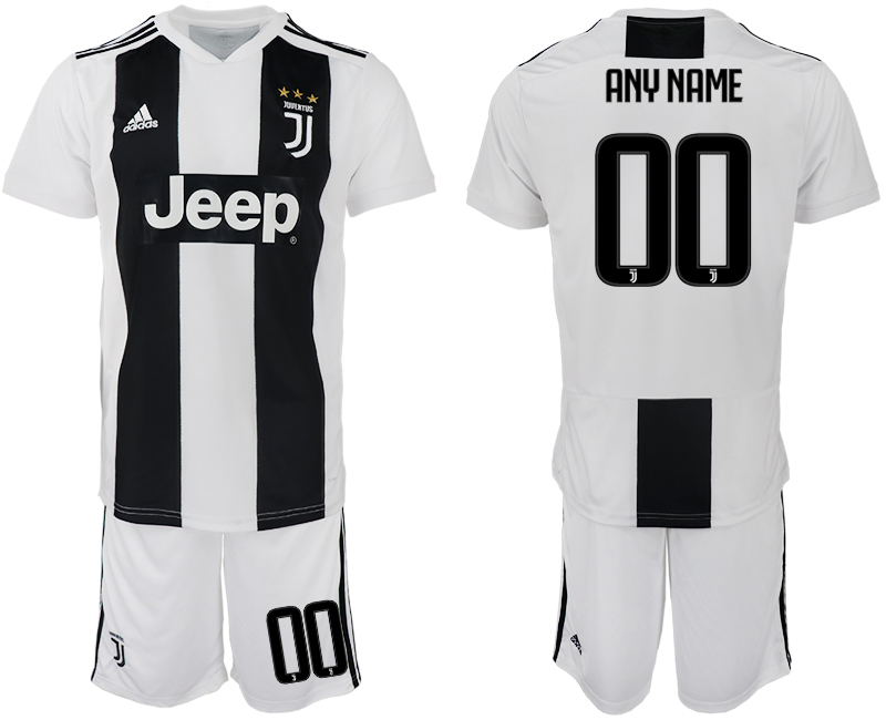 Men 2018-2019 club Juventus FC home white customized soccer jersey