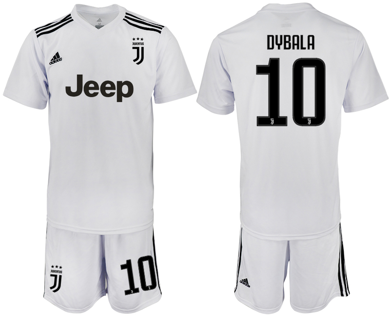Men 2018-2019 club Juventus white 10 soccer jersey