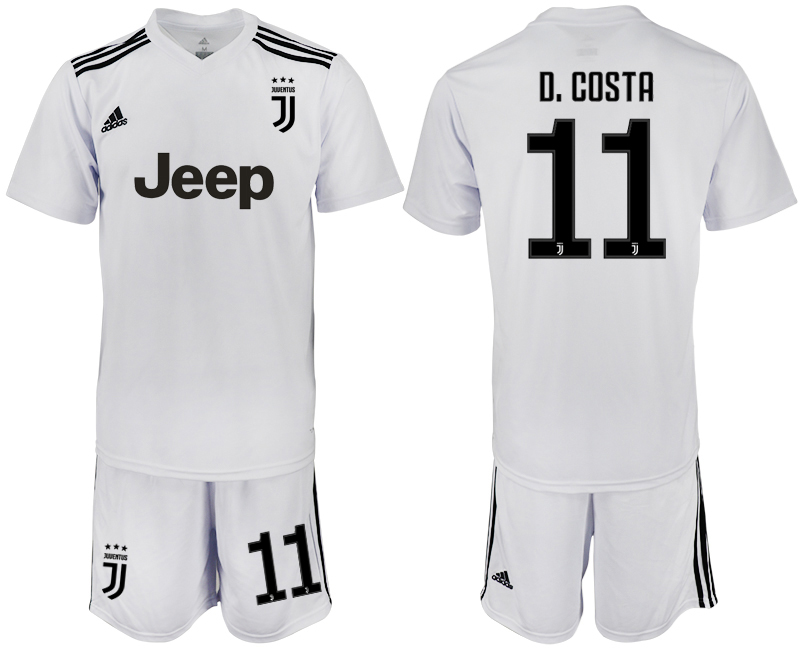 Men 2018-2019 club Juventus white 11 soccer jersey