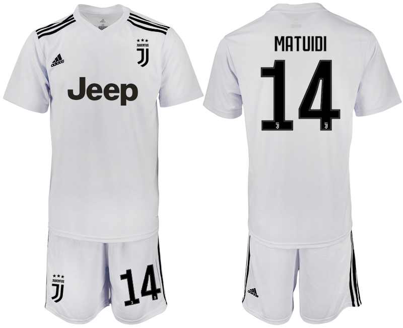 Men 2018-2019 club Juventus white 14 soccer jersey