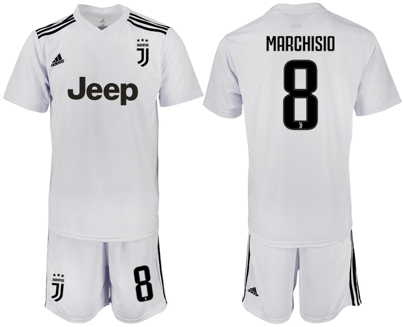 Men 2018-2019 club Juventus white 8 soccer jersey