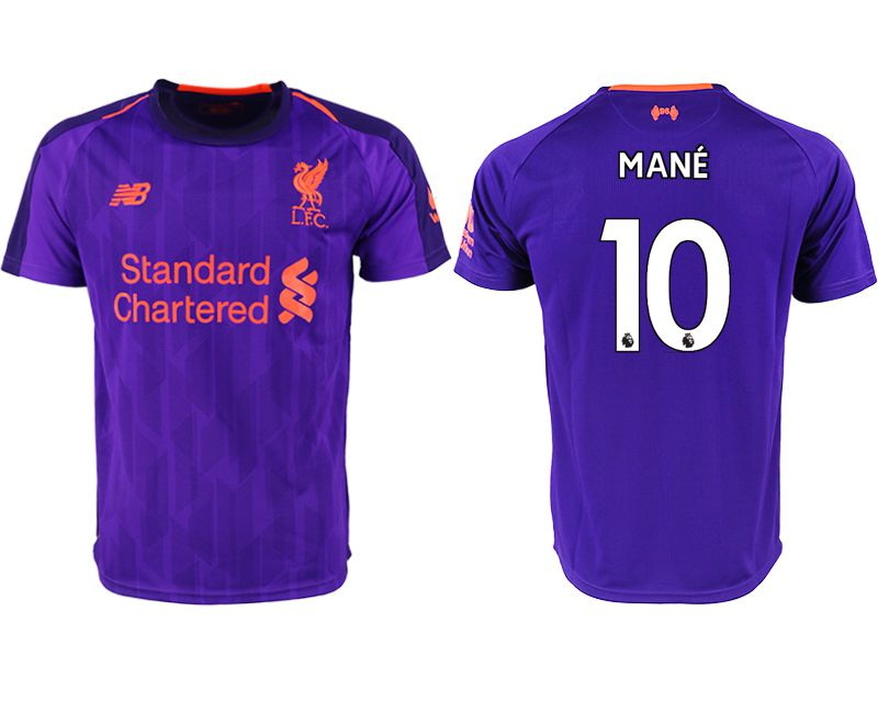 Men 2018-2019 club Liverpool away aaa version 10 purple soccer jersey