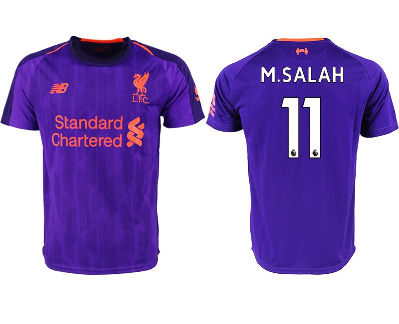 Men 2018-2019 club Liverpool away aaa version 11 purple soccer jersey