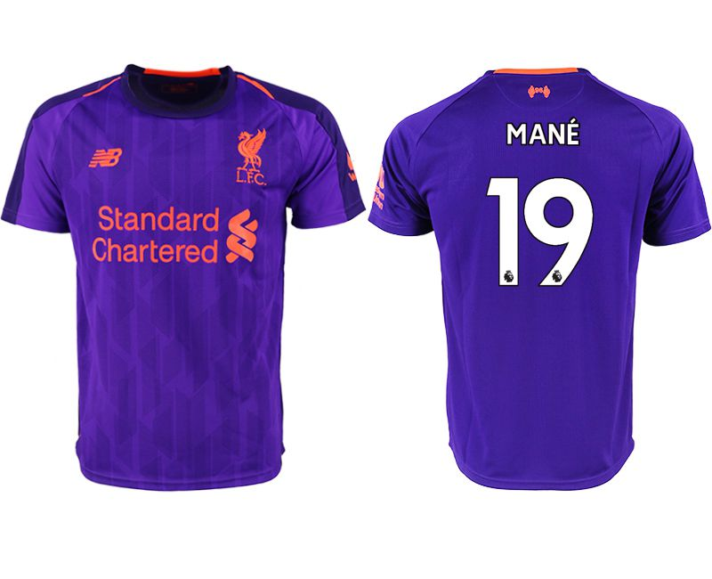 Men 2018-2019 club Liverpool away aaa version 19 purple soccer jersey