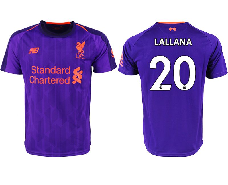 Men 2018-2019 club Liverpool away aaa version 20 purple soccer jersey