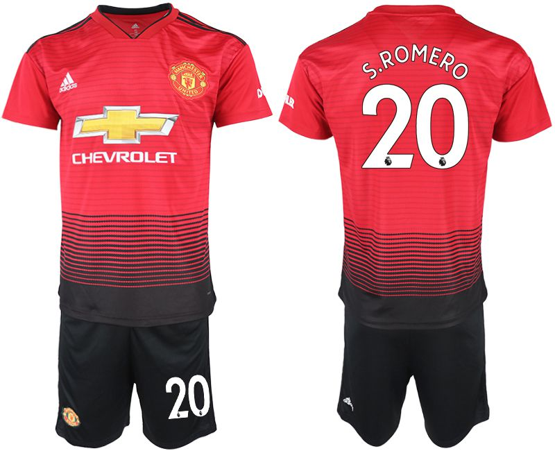 Men 2018-2019 club Manchester United home 20 red soccer jersey