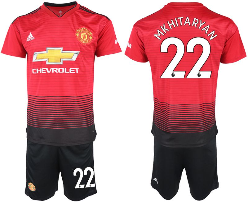 Men 2018-2019 club Manchester United home 22 red soccer jersey