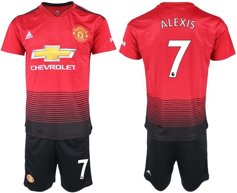 Men 2018-2019 club Manchester United home 7 red soccer jersey