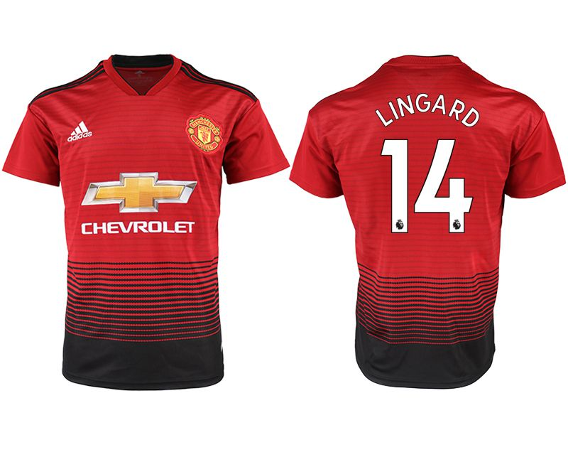 Men 2018-2019 club Manchester United home aaa version 14 red soccer jersey