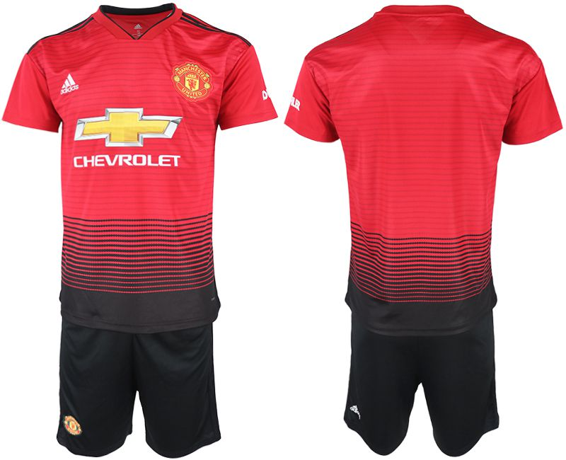 Men 2018-2019 club Manchester United home red soccer jersey