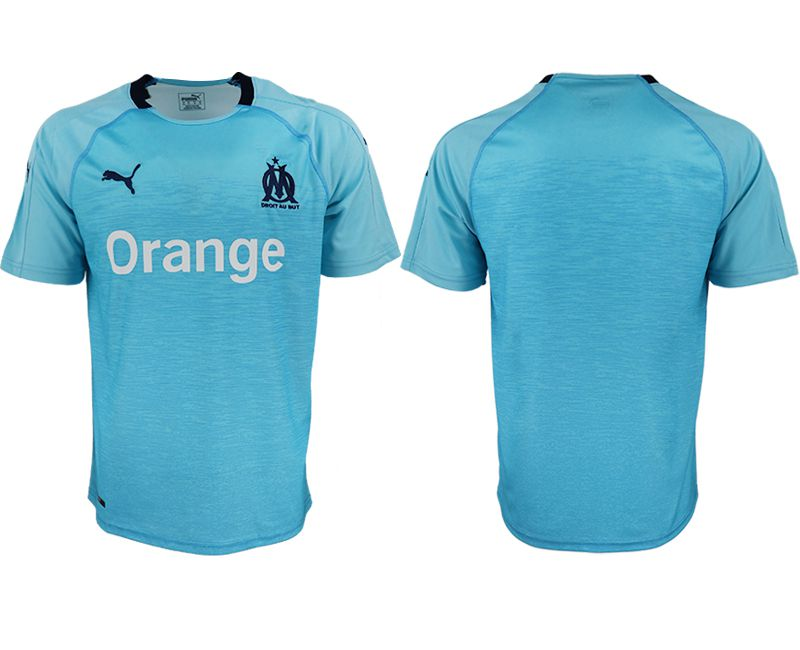 Men 2018-2019 club Marseille away aaa version blue soccer jersey