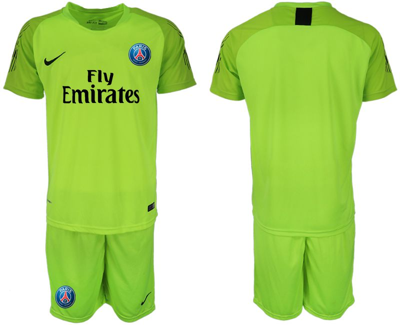 Men 2018-2019 club Paris Saint-Germain fluorescent green goalkeeper soccer jersey