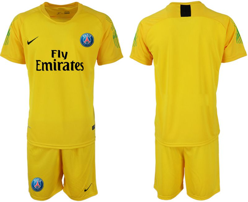 Men 2018-2019 club Paris Saint-Germain yellow goalkeeper soccer jersey