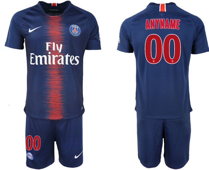 Men 2018-2019 club Paris St Germain home customized blue soccer jersey