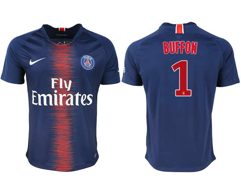 Men 2018-2019 club Paris saint germain home aaa version 1 blue soccer jersey1