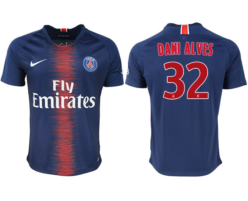 Men 2018-2019 club Paris saint germain home aaa version 32 blue soccer jersey