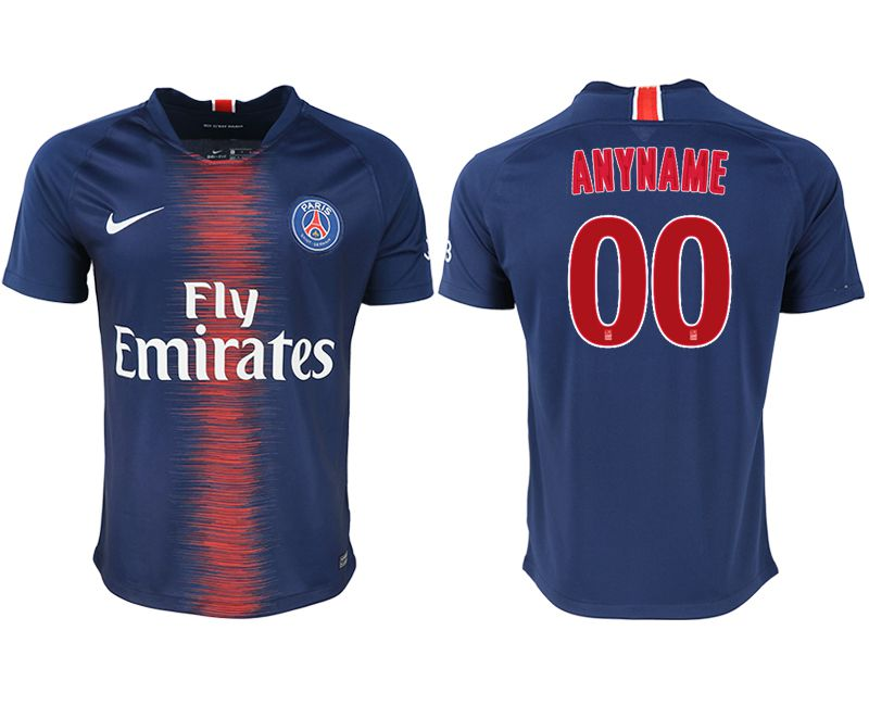 Men 2018-2019 club Paris saint germain home aaa version customized blue soccer jersey