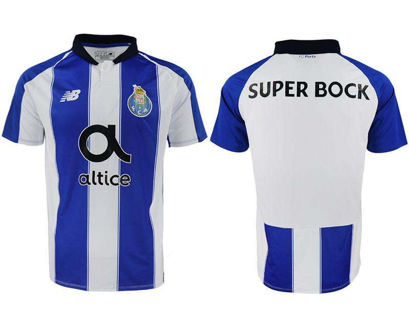 Men 2018-2019 club Porto home aaa versio blank white soccer jersey